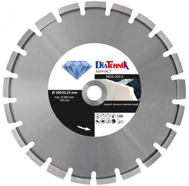 Disc diamantat Asphalt 600x25,40mm pentru asfalt si materiale abrazive [MDA-600-4]